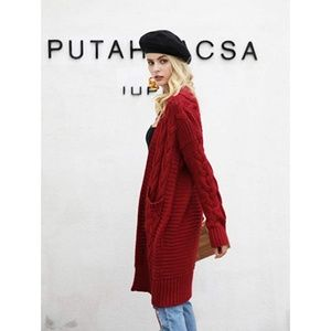 """Womens """"Zoey"""" Casual Loose Cardigan Sweater"""